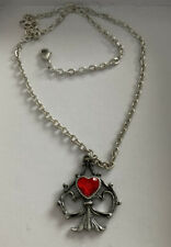 Alchemy Gothic Lucky in Love Pendente Con Collana
