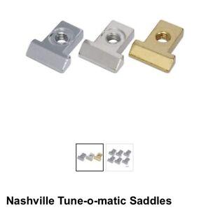 Nashville Bridge Saddles Stew Mac Usa Gold