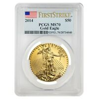 2014 1 oz $50 Gold American Eagle PCGS MS 70 First Strike