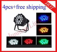 4pcs 18*18W RGBWAP 6 in 1 Led Par Light DJ Stage Par64 Lighting Free Shipping