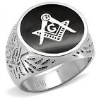 Masonic Stainless Steel 316L Men's Mason Lodge Ring. High Polish 8
