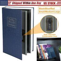 Dictionary Book Safe Diversion Secret Stash Booksafe 3-Digit Combination Lock