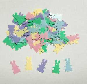 Easter Bunny Decorations Table Confetti Cute Party Sprinkles Kids Colourful UK
