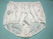New Vintage Jcp Underscore 100% shiny Nylon White Granny Panties Brief Size 8