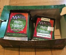 MTG Magic The Gathering Homelands Booster Box FRENCH 27 Packs Opened Box