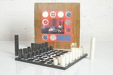 Chess N Checkers Rare Vintage Mid Century Modern Board Game Set MCM 50s 60s