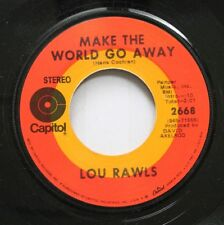 Soul 45 Lou Rawls - Make The World Go Away / I Can'T Make It Alone On Capitol