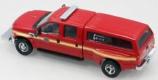 River Point Station Ford F-350 Red Dually Fire Dept Truck with Cap- New 1/87 HO