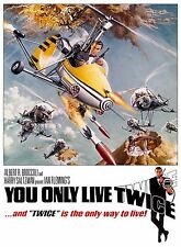 Home Wall Print - Movie Film Poster - YOU ONLY LIVE TWICE-JAMES BOND-A4,A3,A2,A1