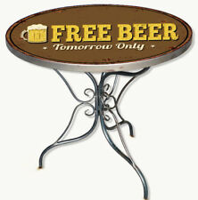 Tavolino Vintage bar Metallo Marrone Free beer Tomorrow