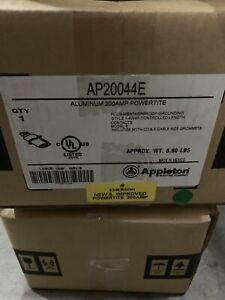 Appleton AP20044E Aluminum 200 amp Powertite Plug 4W 4P NEW