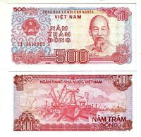 Banknote - Vietnam 1988, 500 Dong, P101 UNC, Ho Chi Minh (F) Dockside View (R)