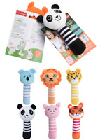 X2 Cute Baby Rattle and Squeak Easy Grip, Baby Toy Baby Activity Soft Toys UK