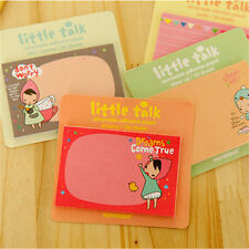4 Stück nette Kawaii Sticky Note Notizblock School Supplies-Planer Aufkleber AB