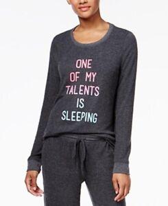 Jenni by Jennifer Moore Women's Gray Graphic-Print Pajama Top Size XS Retail