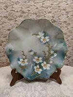 Antique RS Prussia Hand Painted Raised Gold Floral Plate