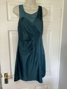 Belle By Oasis Delicate Silky Feel Emerald Green Special Occasion Dress Size 10