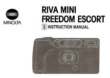 Minolta Riva Mini & Freedom Escort 35mm Camera Instruction Manual -Minolta