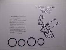Bennett Trim Tab Actuator O ring Sealing Kit w/ Instructions  2 Actuator Cyl %2