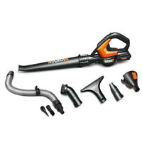 Worx 20V MaxLithium Cordless Worx Air Blower Sweeper Kit WG545.1 New