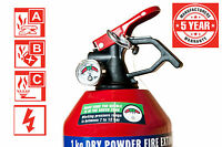E-Tech Home Car Business Office 1KG Dry Powder Gauge Fire Extinguisher ABC UK EU