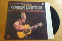Gordon Lightfoot - The Best of LP Vinyl Album Original 1970
