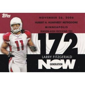 LARRY FITZGERALD 2007 TOPPS GENERATION NOW