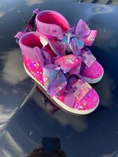 JoJo Siwa Girls High Top Pink Shoes Nickelodeon Show Sparkle Tie Dye Bow Size 13