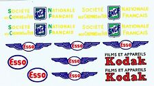 decals pour Dinky: Panhard semi-remorque: Esso, Kodak, SNCF