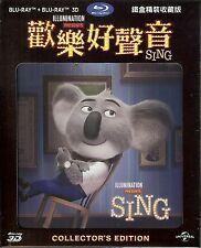 Sing 2-Disc Collector's Edition SteelBook w/Hollow Slip (Region Free Taiwan)
