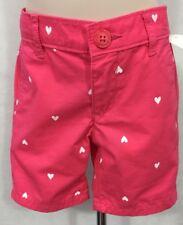 NWT Oshkosh 3T Toddler Girl's 100% Cotton Pink Heart Shorts