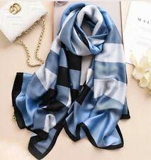 Women Soft Silk Summer Scarf Stripes Print Fashion Scarfs Shawl Wrap Stole