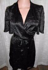 NWOT BCBG Max Azria Brown Silk Asian Wrap Belted Dress Kimono Short Sleeve XXS