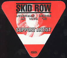 SKID ROW 1995 Subhuman Race Concert Tour Backstage Pass!!! Authentic OTTO #3