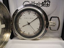 Pocket Watch New Reduced Silvertone Stainless Steel Silver/White Face