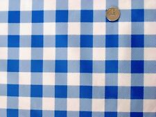 ROYAL BLUE PICNIC CHECK DINING 1-INCH GINGHAM OILCLOTH VINYL TABLECLOTH 48x108