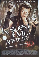 "RESIDENT EVIL ""AFTERLIFE 3D"" POSTER - MILLA JOVOVICH IN THE RAIN WITH TWO GUNS"