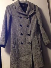 Jacob Size S 3/4 Length Wool Tweed Jacket Women's Gray/Black Lined Cute Comfy!!!