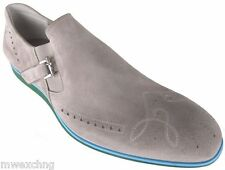 CESARE PACIOTTI US 12 ELEGANT GRAY LOAFERS ITALIAN LEATHER MENS SHOES