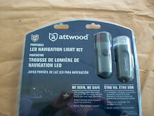 ATTWOOD PORTABLE LED NAVIGATION LIGHT KIT FOR BOAT BOW STERN  RED/GREEN & WHITE