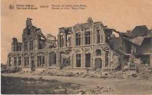 B133,AK,Ypern,zerstörte Häuser Malou Place,Belgien,1.WK