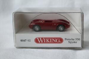 Wiking 0167 02 Porsche 550 Spyder rot
