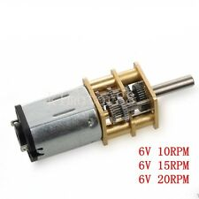 1Pcs DC6V/12V N20 Micro Gear Motor Gear Ratio 1:1000 High Torque 10/15/20/30rpm