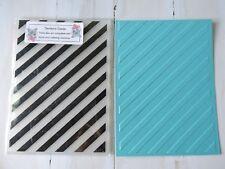 Embossing Folder  -  Diagonal Stripes