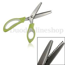 Fabric Stainless Steel Dressmaking Pinking Shears Craft Zig Zag Cut Scissors