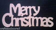 MDF Wood / Wooden Merry Christmas Word ~ 28cm x 12.5cm