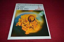 Deutz FL912 BD 6L913 Air Cooled Diesel Engine Dealer's Brochure YABE11 Ver81