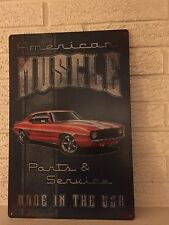 """""""American Muscle"""" """"Parts and Service"""" """"Made in the U.S.A."""" Sign New"""