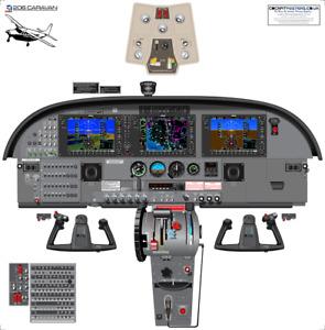 Cessna Caravan 208 Garmin G1000 Glass Cockpit with Synthetic Vision Displays
