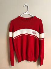 vtg '80s retro Coca Cola Classic red & white old school sweatshirt M L Nice!